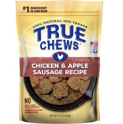 Tyson True Chews Dog Trearts - Chicken and Apple Sausage Recipe, 12oz