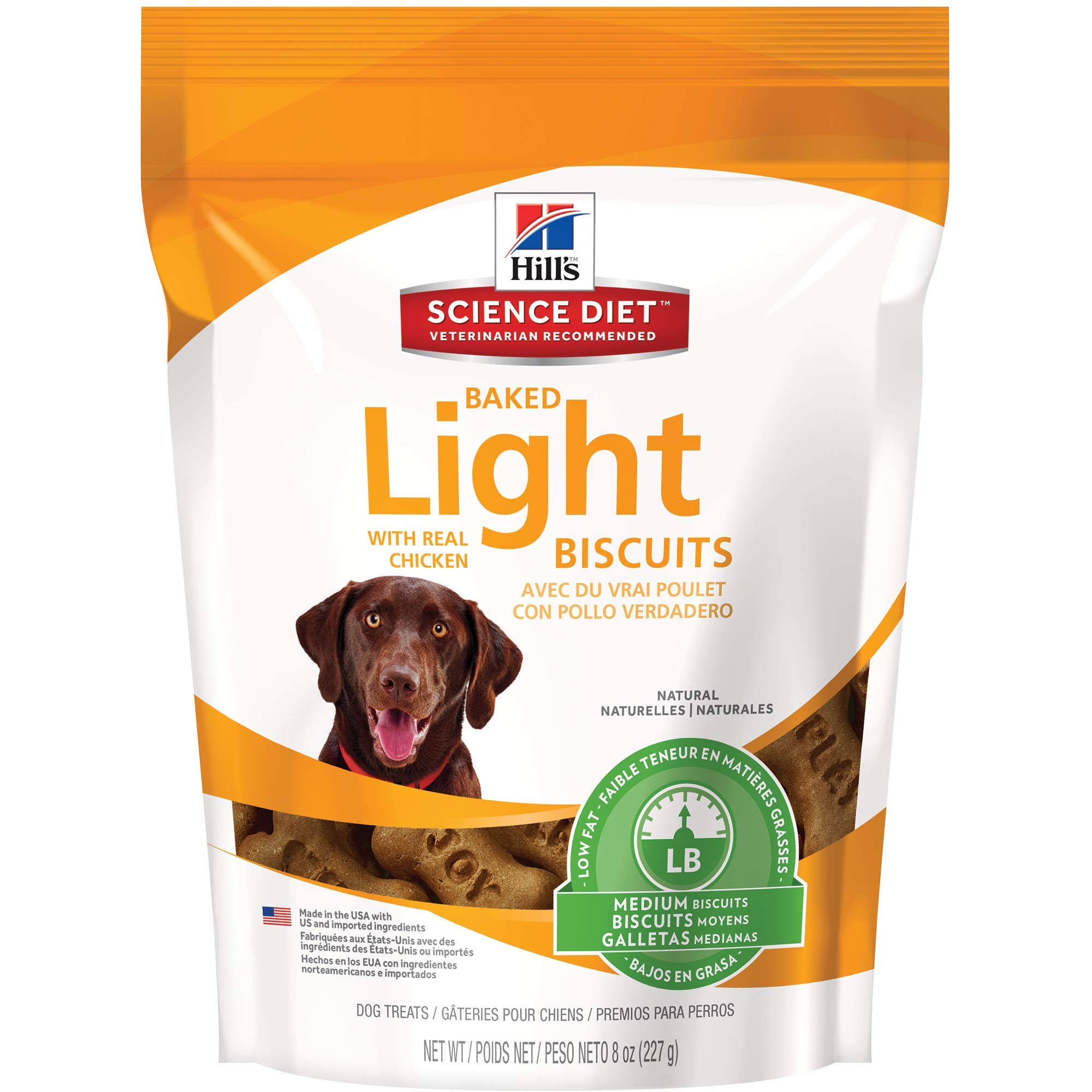 Hill's Science Diet Medium Baked Light Biscuits with Real Chicken Dog Treats