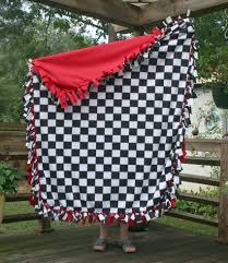 Fitted Outdoor Tablecloth With Umbrella Hole by Checkered Flag Tablecloth Hats Off America