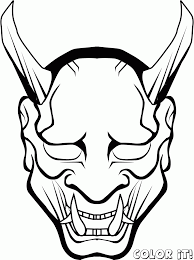 Scary Halloween Coloring Pages Online by Halloween Scary Masks Coloring Pages Coloring Home