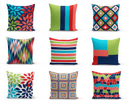 Coral Colored Decorative Items by Colorful Outdoor Pillows Red Navy Blue Green Coral White