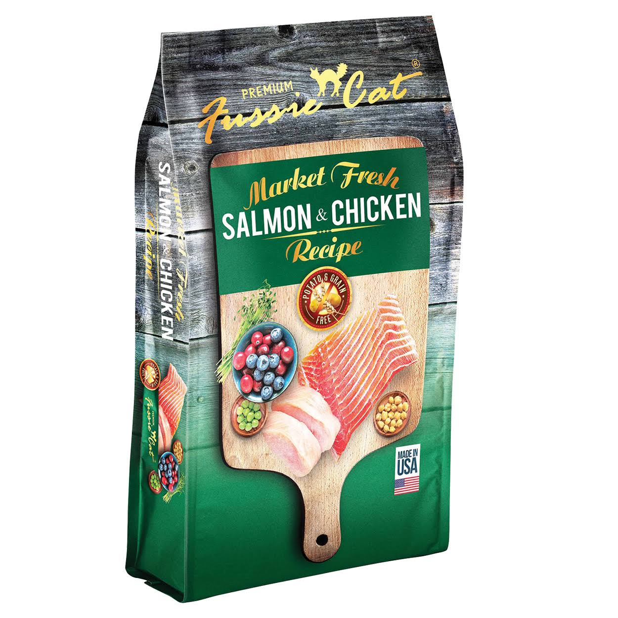 Fussie Cat Dry Cat Food - Salmon & Chicken