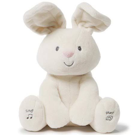Gund Baby Flora the Bunny Animated Plush Stuffed Animal Toy - Cream, 30cm