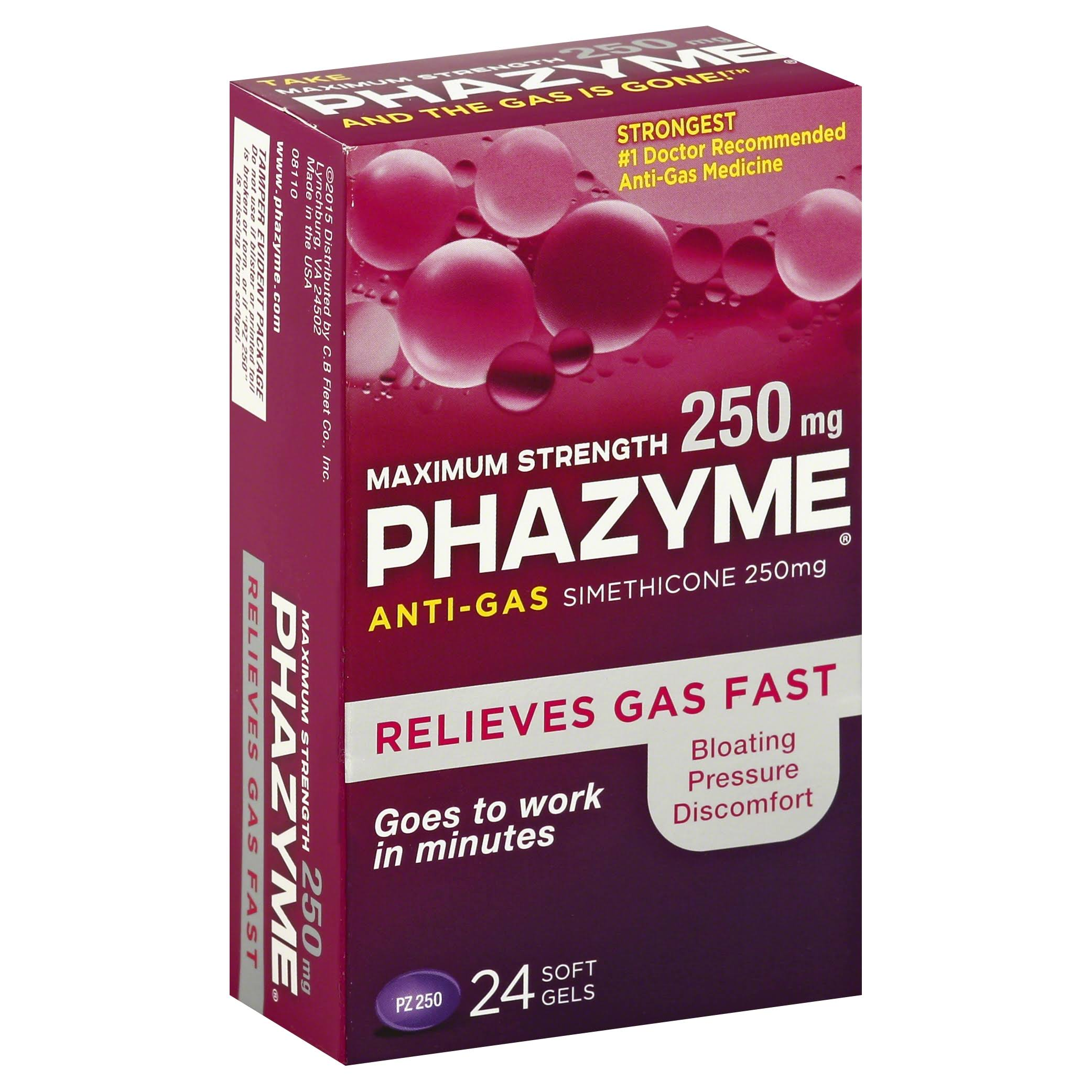 Phazyme Maximum Strength 250mg Softgels - 24 Softgels