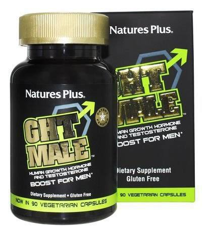 Nature's Plus GHT Male Human Growth Hormone & Testosterone Boost for Men - 90 Capsules