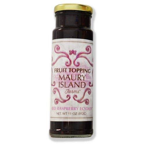 Maury Island Farm Gourmet Red Raspberry Fruit Topping, 11 oz Bottle