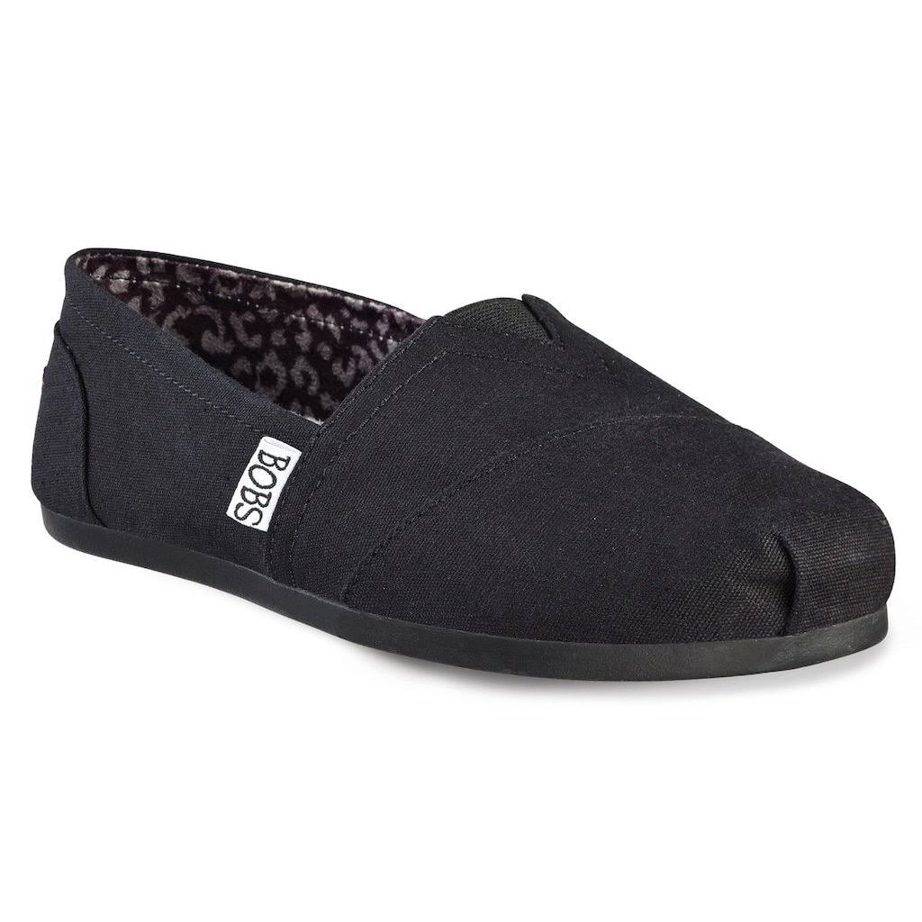 Skechers Women's Bobs Plush Peace and Love Flat Shoes - Black, 7 US
