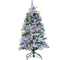 Vickerman Flocked Slim Christmas Tree by Ed On Air Santa U0027s Best 5 U0027 Frosted Simon Tree By Ellen Degeneres