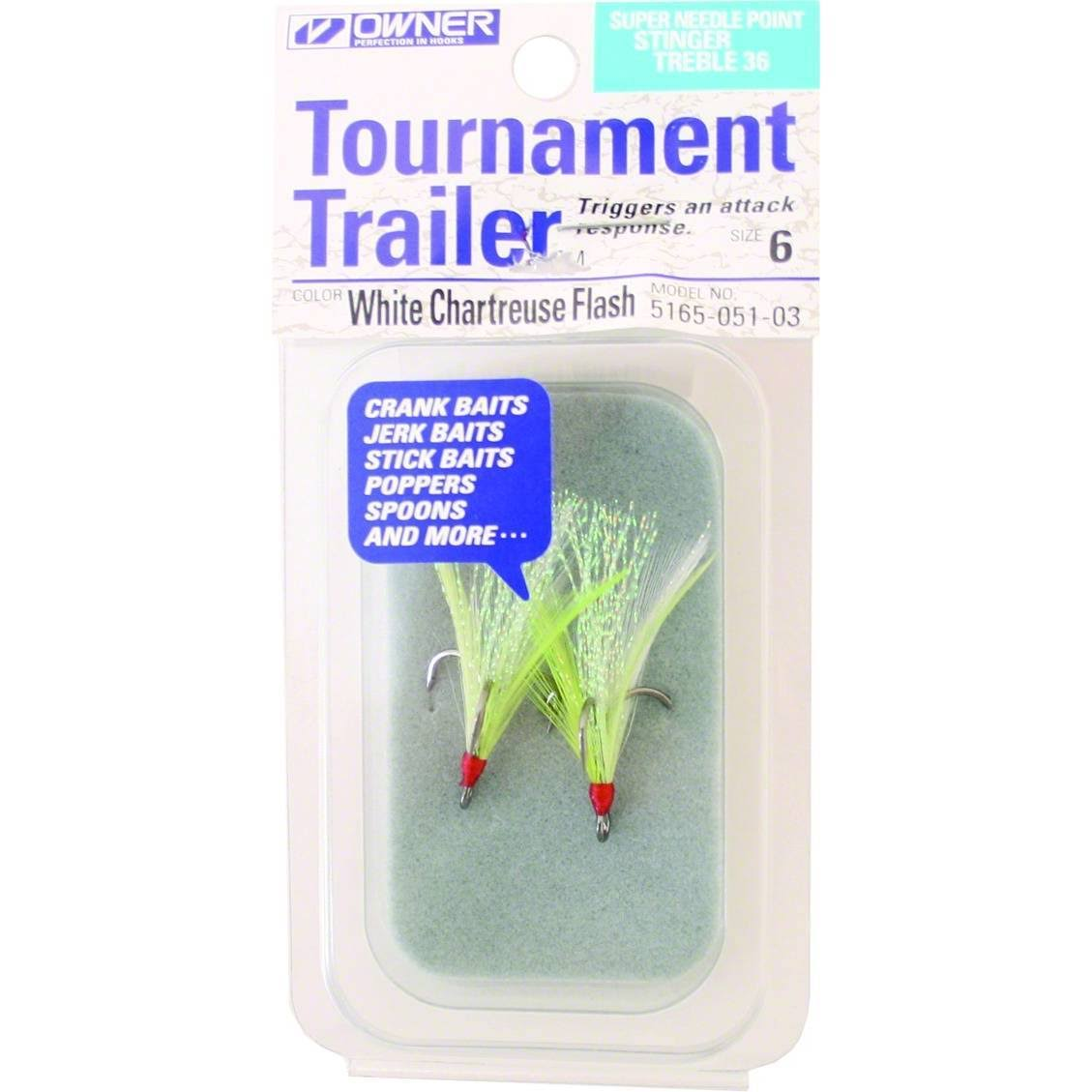 Owner 5165-051-03 Stinger-36 Tournament Trailer Treble Hook