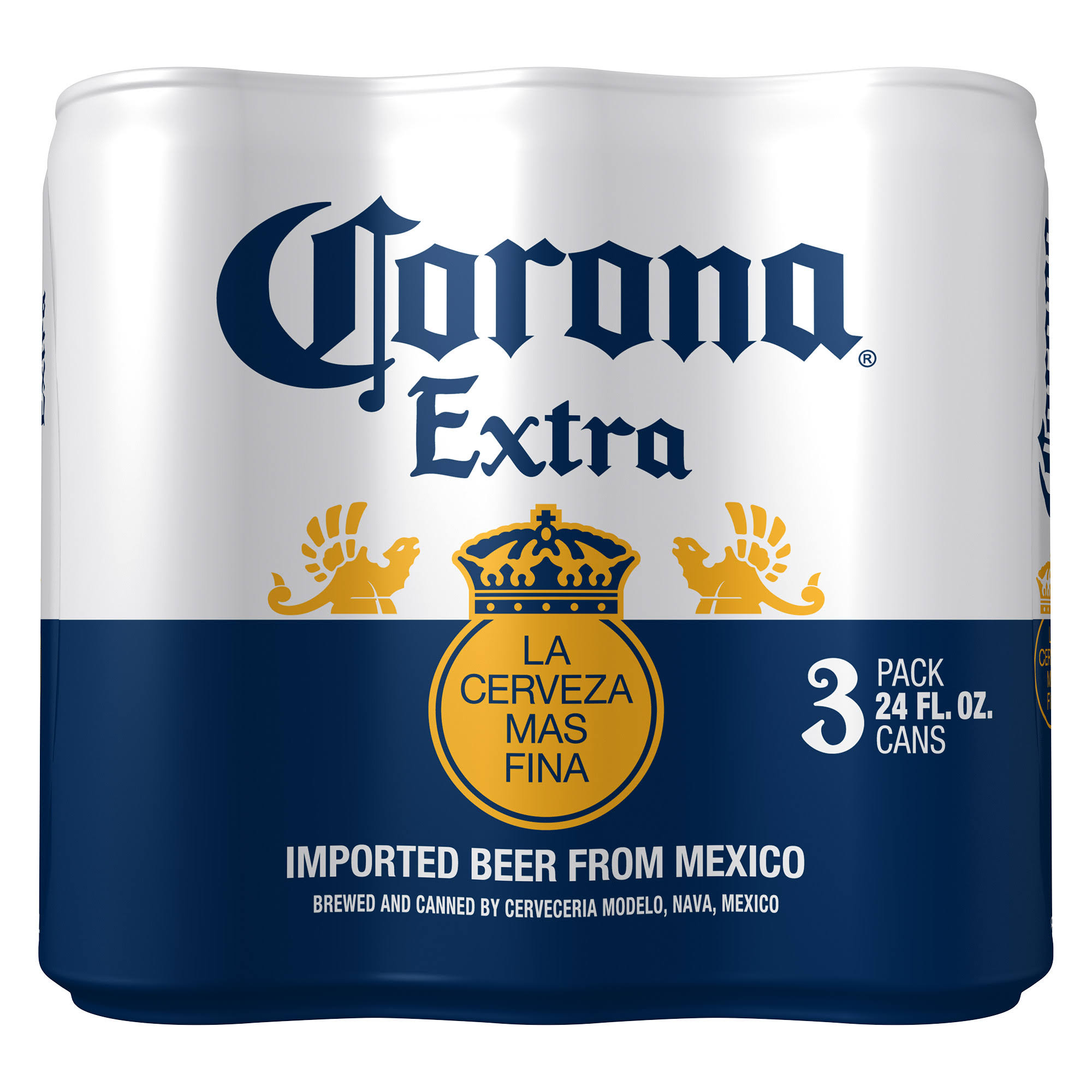 Corona Extra Beer - 3 pack, 24 fl oz cans