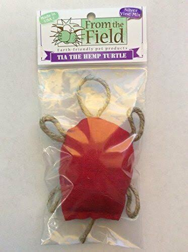 from The Field FFT124 Tia The Hemp Turtle with Silver Vine Cat Toy
