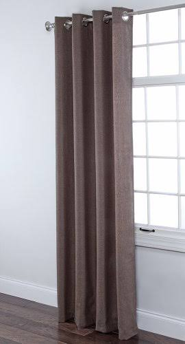 Stylemaster Home Products Twill and Birch Herringbone Woven Grommet Panel, 55 by 84-Inch, Chocolate