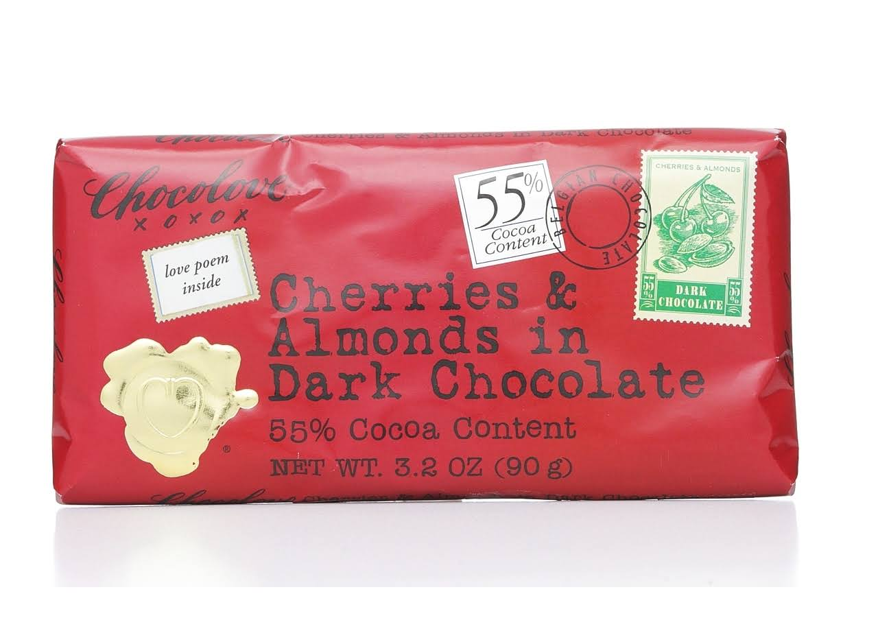 Chocolove Cherries & Almonds in Dark Chocolate - 90g
