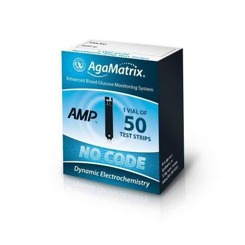 Agamatrix Amp Blood Glucose Test Strips 50