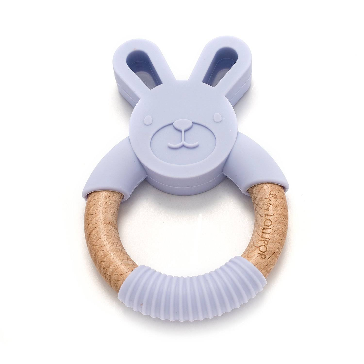 Loulou Lollipop Bunny Silicone and Wood TEETHER| Lilac