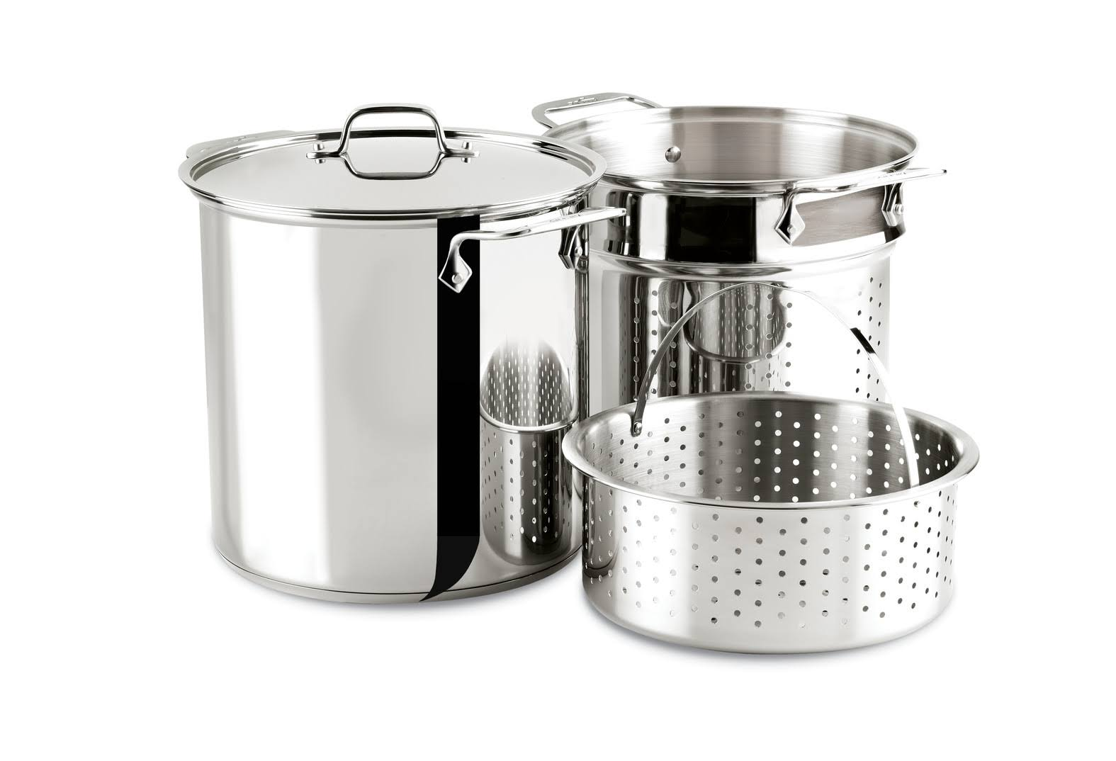 All-Clad Stainless Disc Bottom Multi-Cooker Stock Pot - 12 Quart
