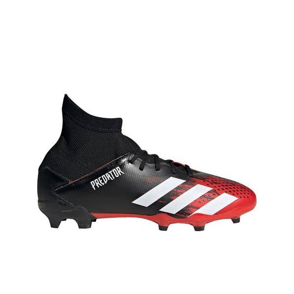 Adidas Predator 20.3 FG J Kids' Soccer Cleat Black/White/Red 5