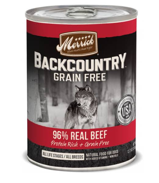 Merrick Backcountry Grain Free 96 Percent Real Beef - 12.7 Oz, 12 Count