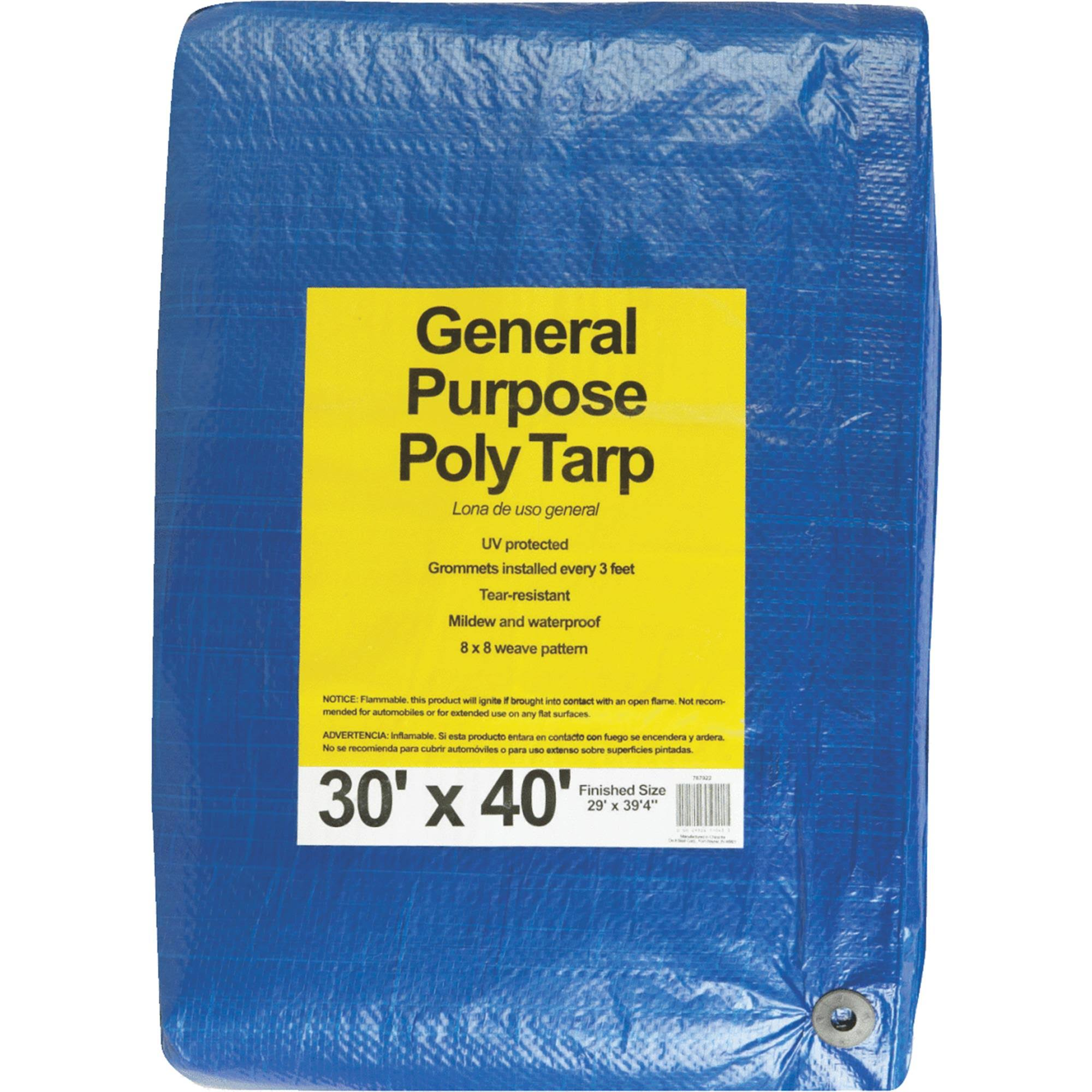 Dynatech International Inc. 767922 General Purpose Blue Poly Tarp