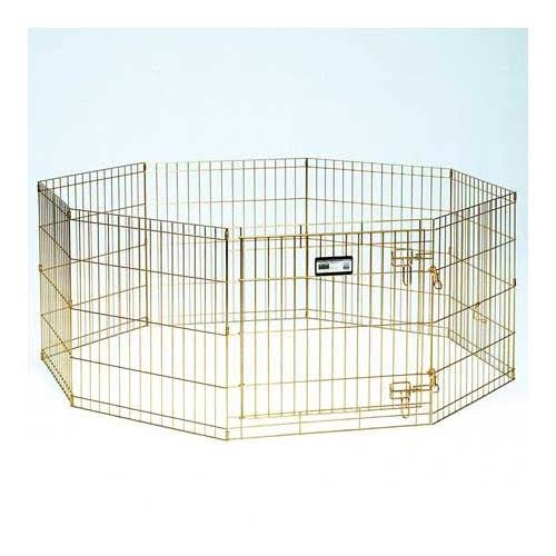 "Midwest Foldable Metal Exercise Pet Playpen - 24"" x 36"""
