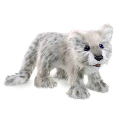 Folkmanis Snow Leopard Cub Hand Puppet - 17""