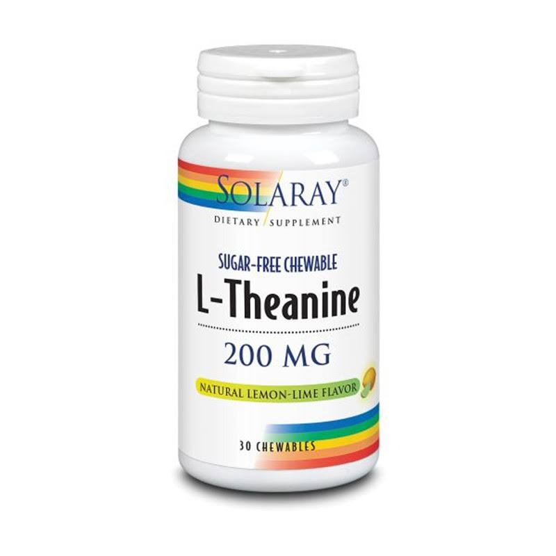 Solaray L-Theanine - 200mg, 30 Chewables