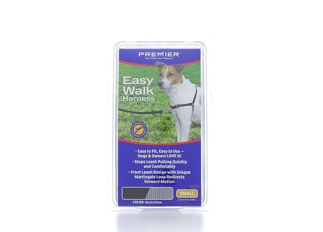 Premier Easy Walk Dog Harness - Black, Grey, Small