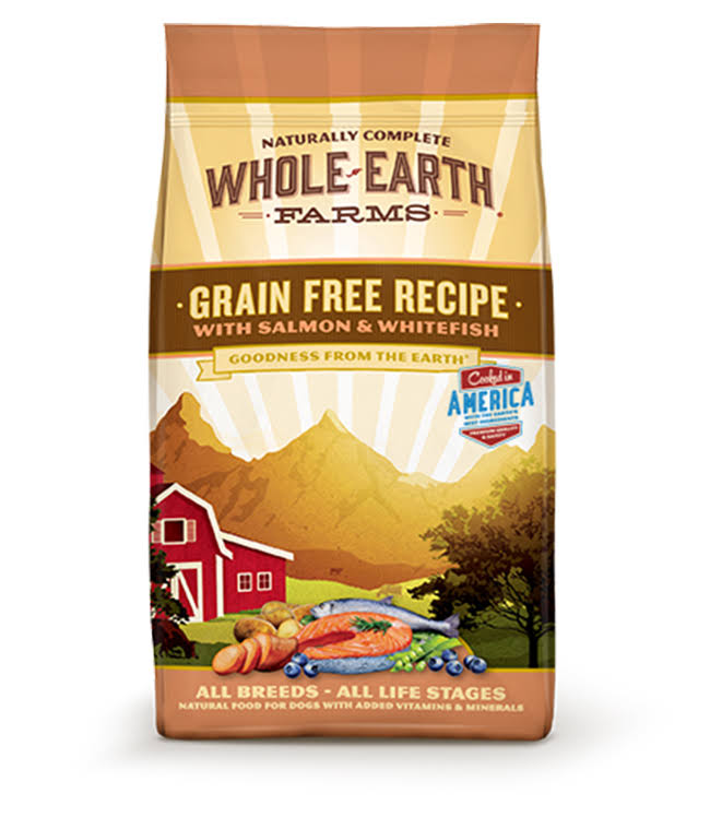 Whole Earth Farms Grain Free Recipe Dry Dog Food - Salmon and Whitefish, 25lb