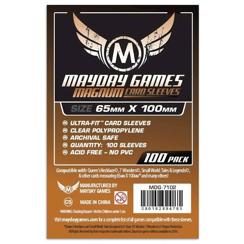 Mayday Games Magnum Card Sleeves - 100 Sleeves