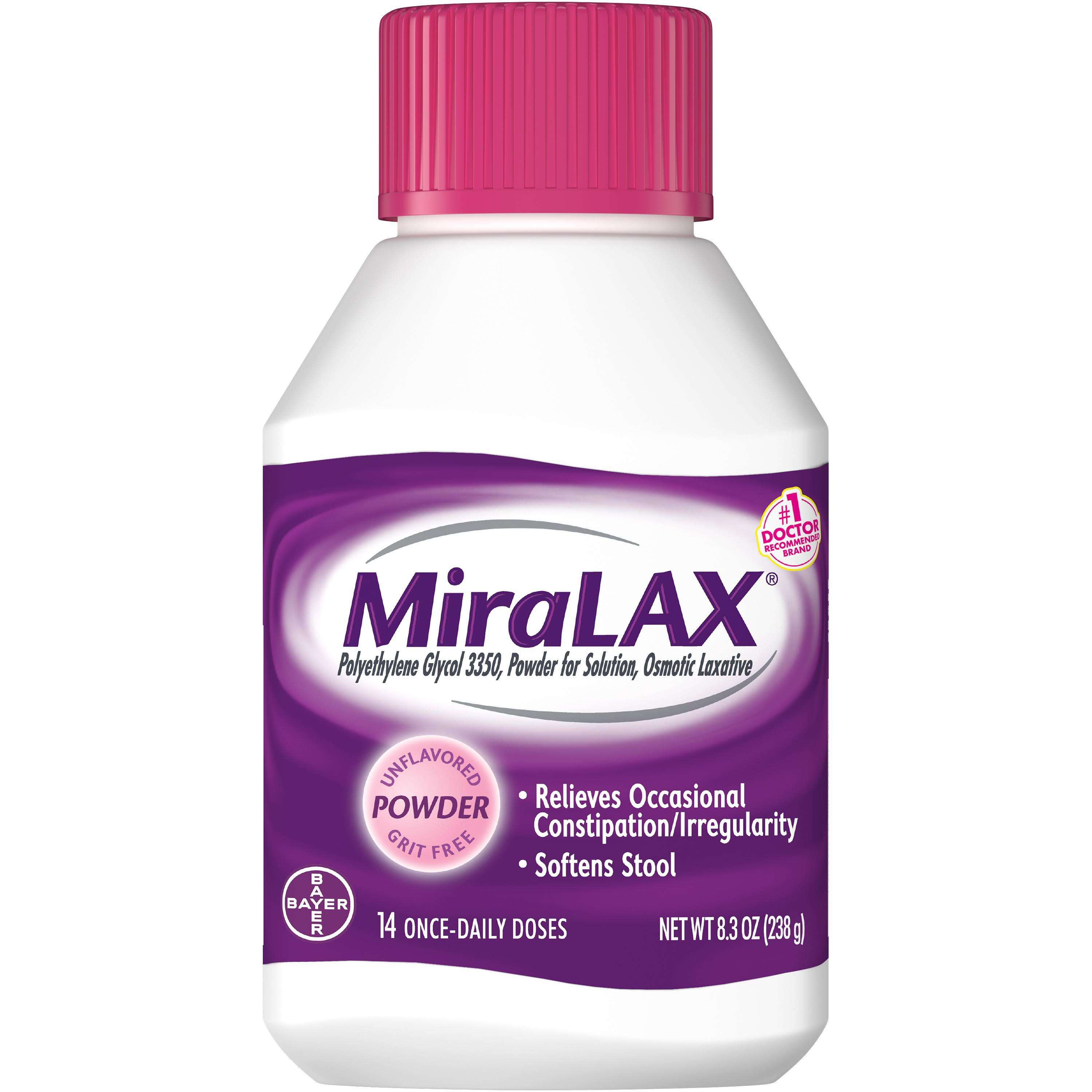 Bayer MiraLAX Laxative Powder - 8.3oz, Unflavored, Grit Free