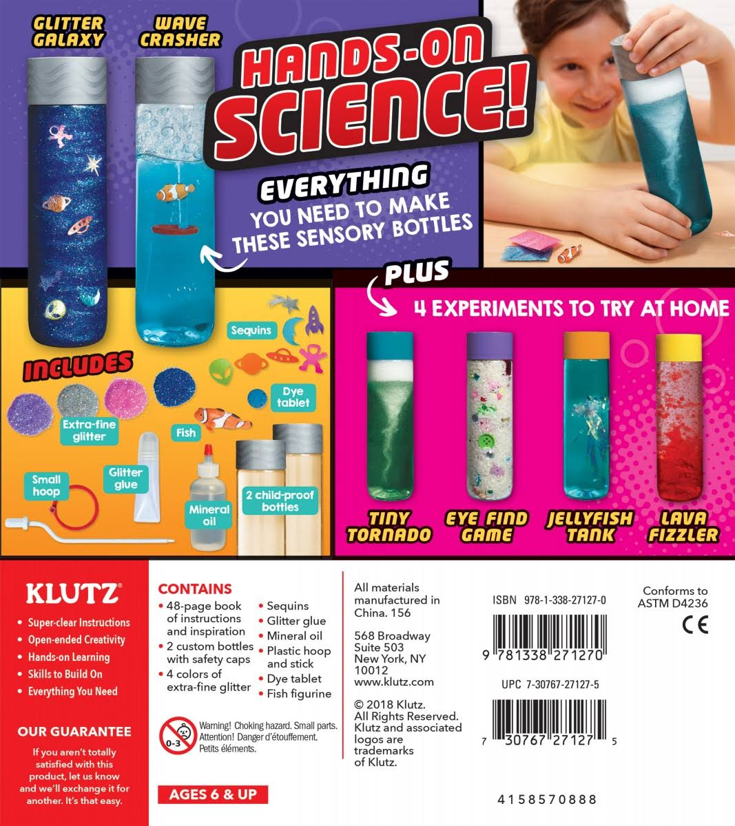 Klutz Make Your Own Discovery Bottles Book Kit