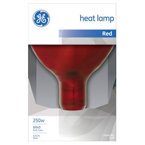 GE Lighting 37771 R40 Heat Lamp - Red, 250W