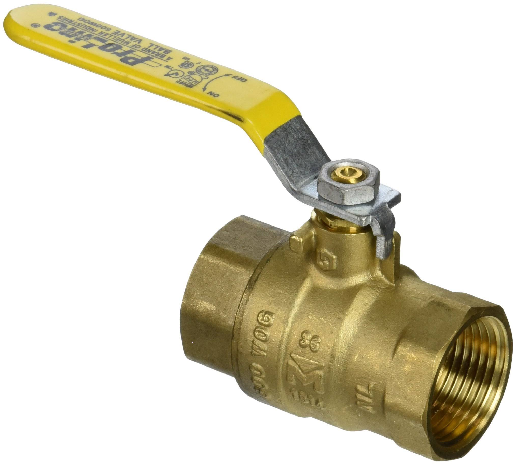 Mueller Low Lead Ball Valve - Brass, 1""