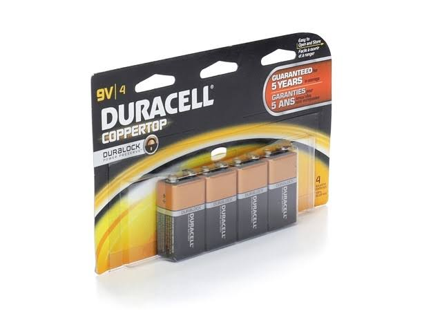 Duracell Coppertop Alkaline Batteries - 9V