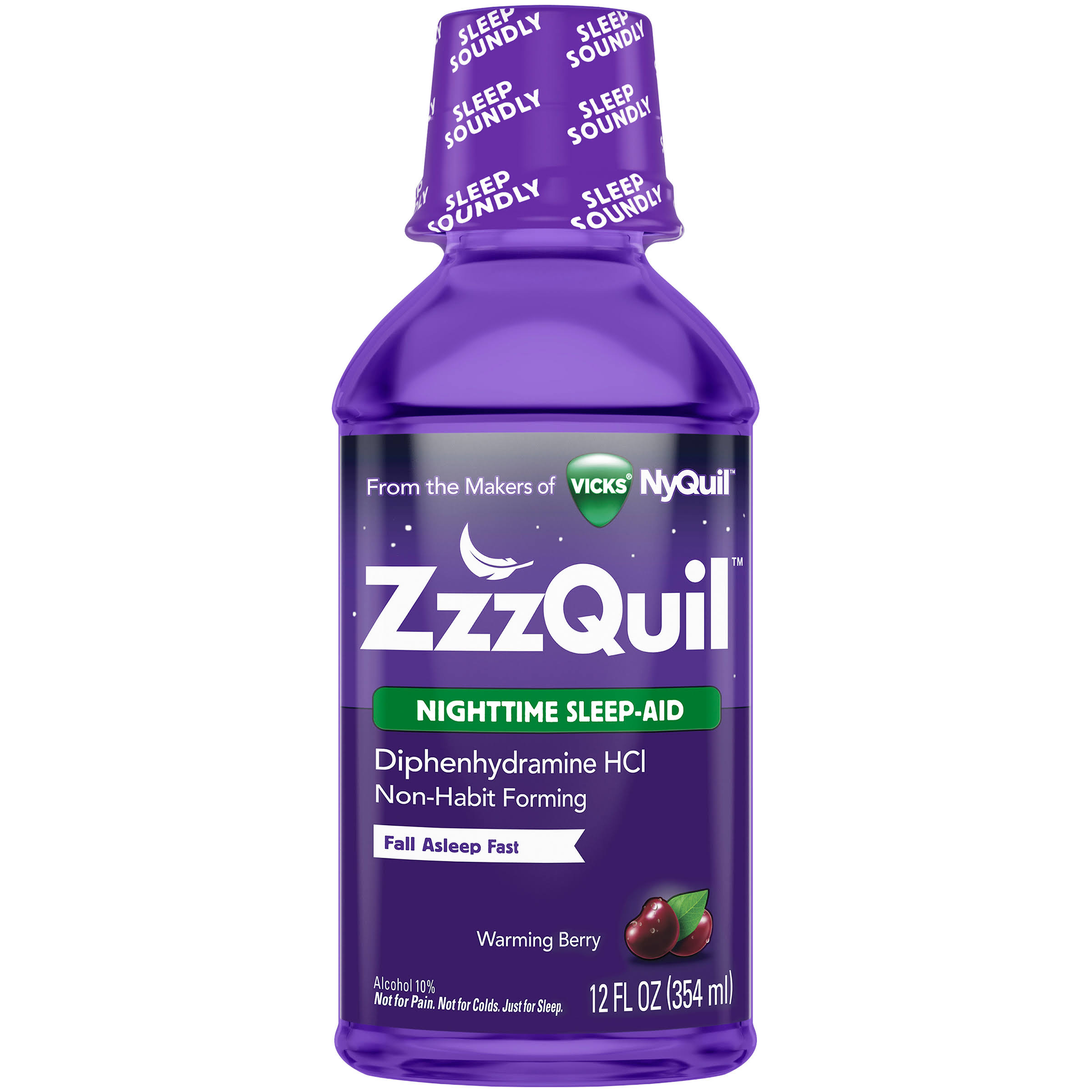 Vicks ZzzQuil Warming Berry Nighttime Sleep Aid - 12oz