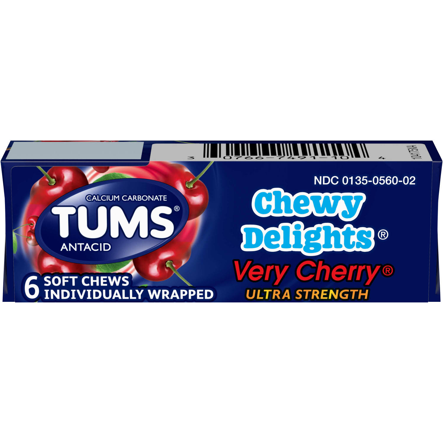 Tums Chewy Delights Antacid - Very Cherry, 6ct