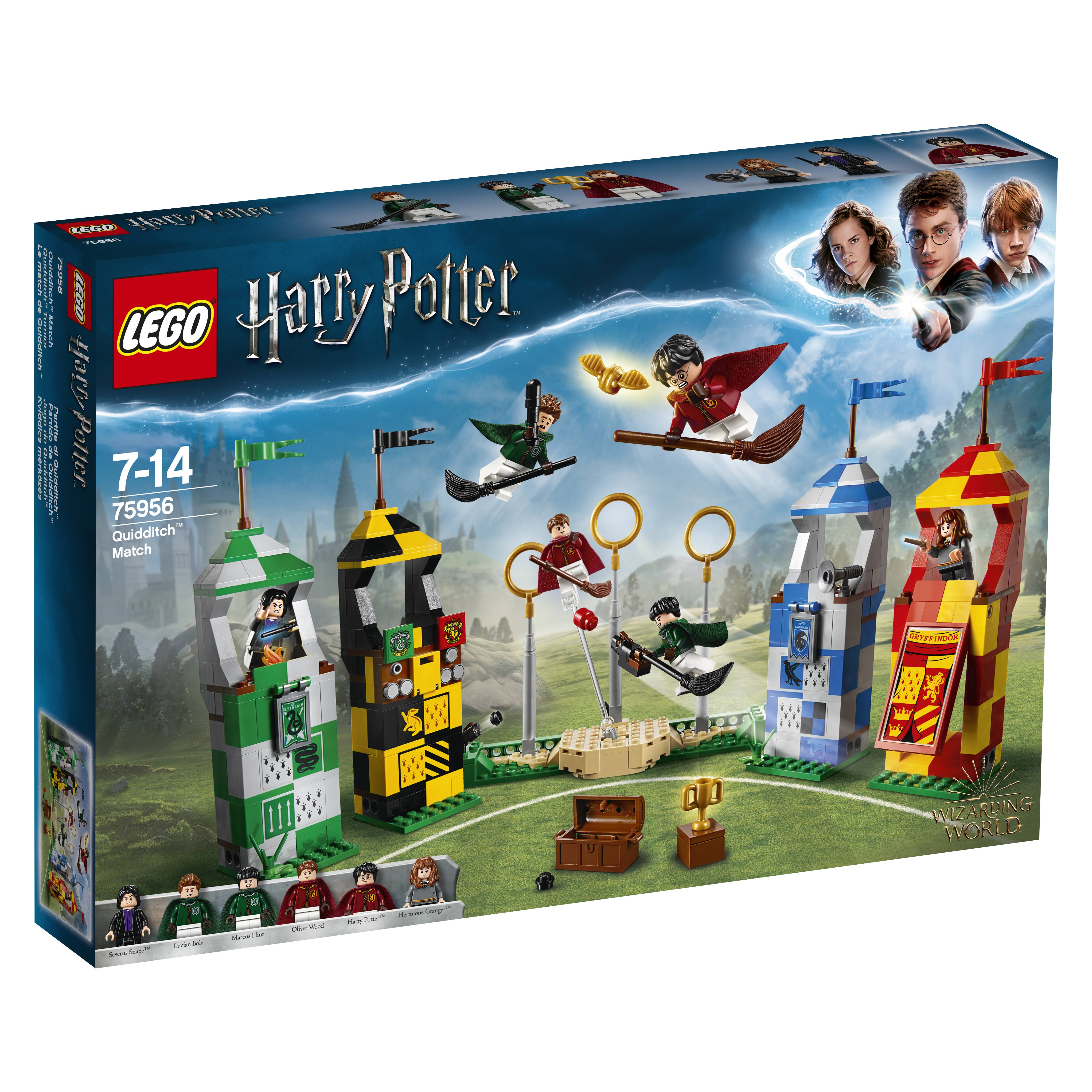LEGO 75956 Harry Potter Quidditch Match set - 500pcs, 6 minifigures, 7 to 14 Years