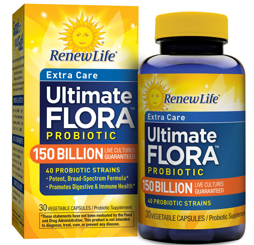 Renew Life Ultimate Flora Mega Potent Probiotic Strains - 30 Capsules