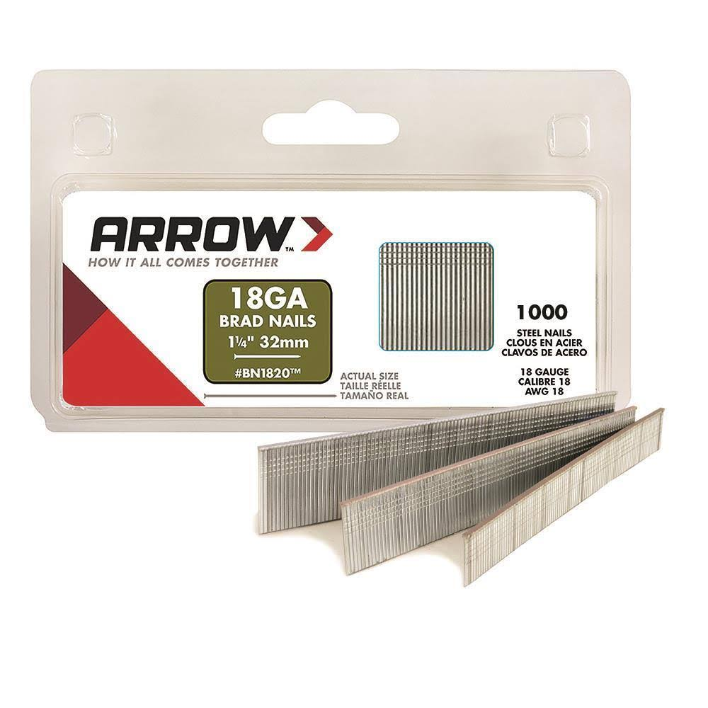 Arrow Fastener Brad Nails - 18-Gauge