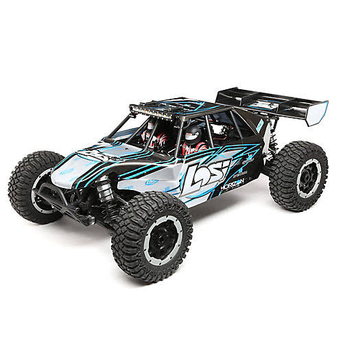Losi 1:5 Desert Buggy XL-E 4WD Electric RTR with AVC Model Kit - Gray and Blue
