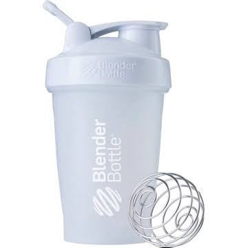BlenderBottle Classic Protein Shaker - With Loop, White