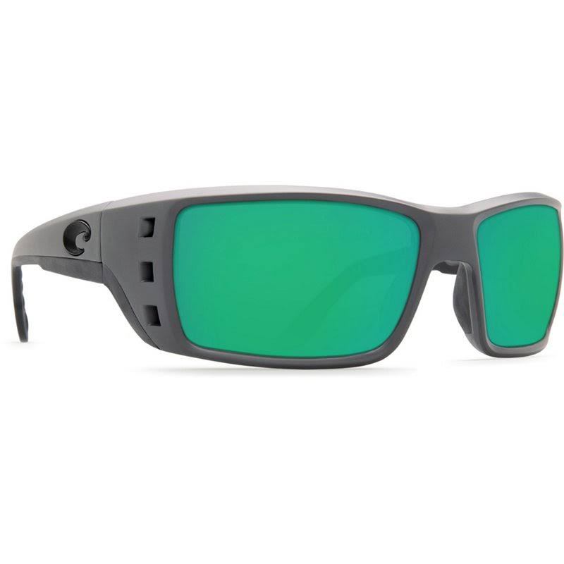 Costa Del Mar Permit Sunglasses - Matte Gray/Green Mirror, 580g