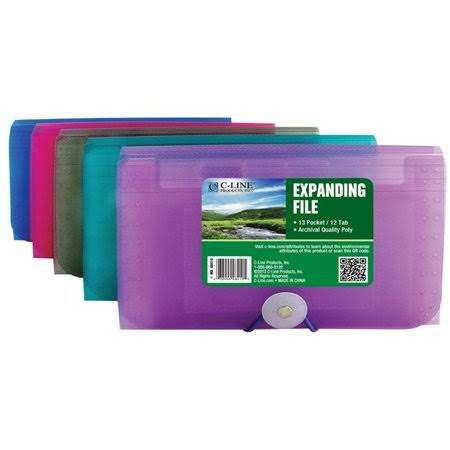 C Line Products Coupon Size Expanding File Case - 13 Pocket