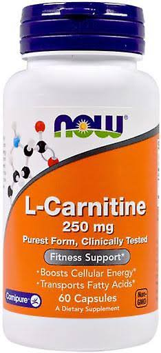 Now L-Carnitine Fitness Support 250mg - 60 Capsules
