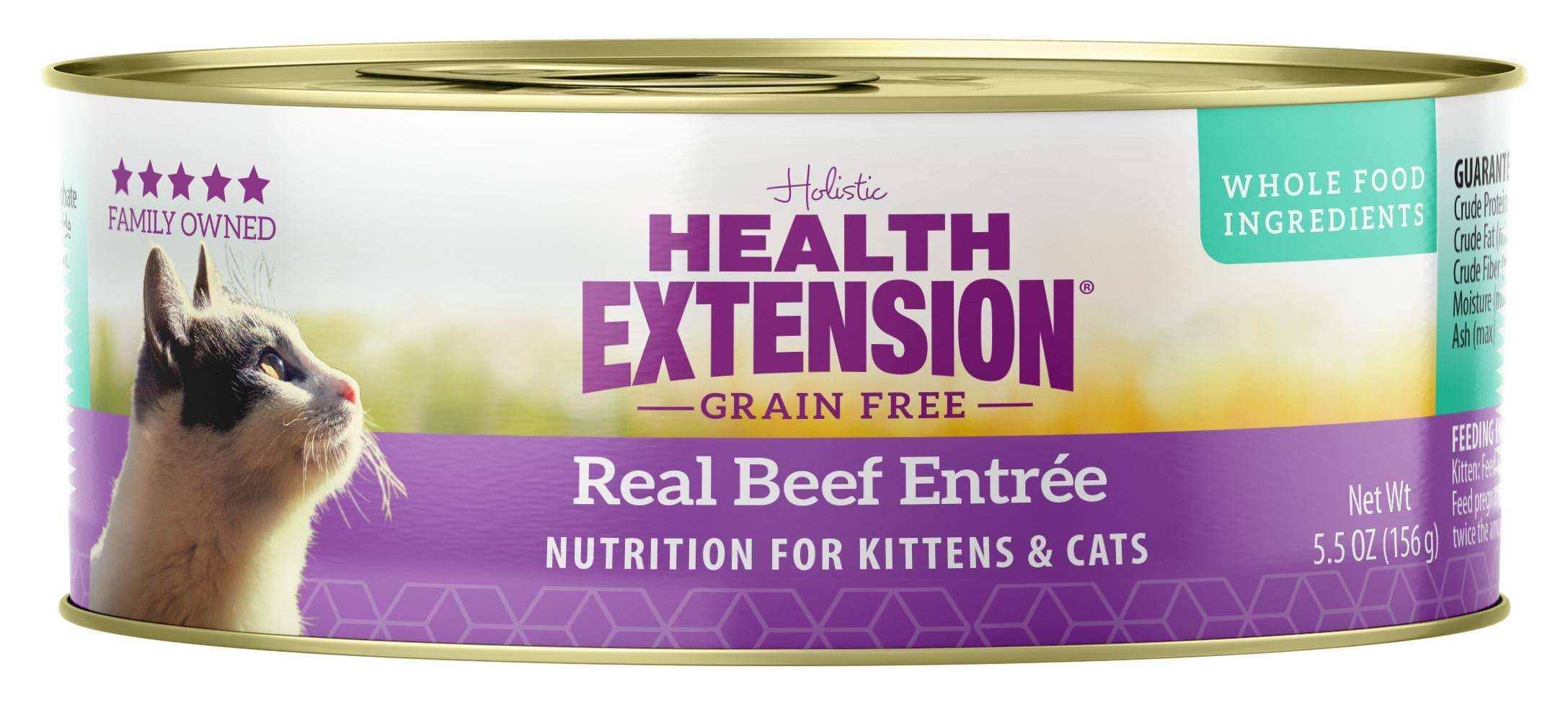 Health Extension Beef Entree Canned Cat Food - 5.5 oz, Case of 24