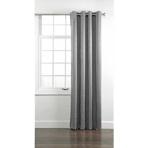 Portland Grommet Energy Efficient Curtain Panel, Gray