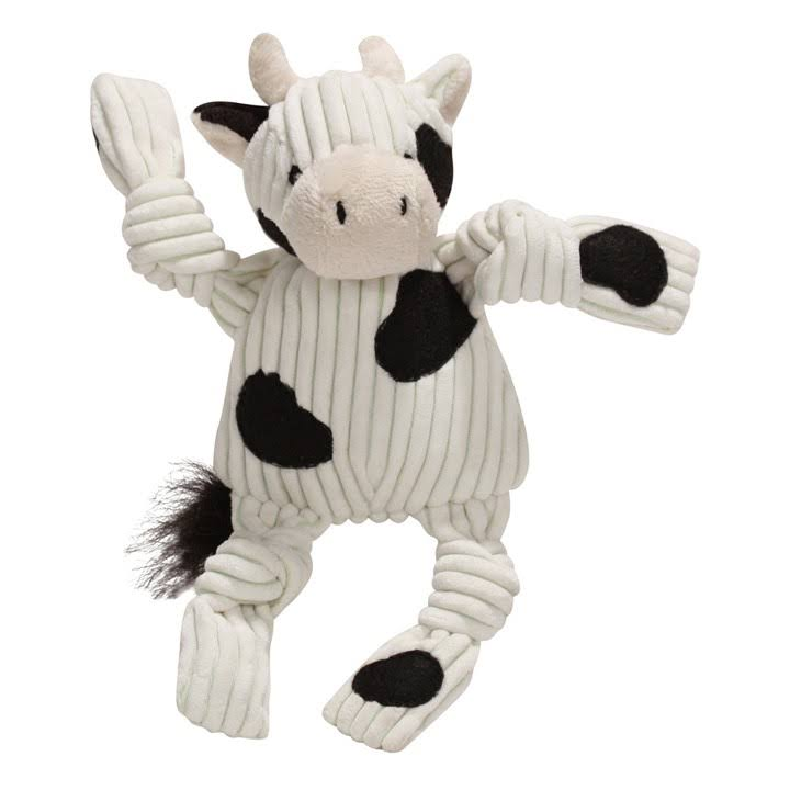 Huggle Hounds Corduroy Plush Toy - Knottie Cow, Small
