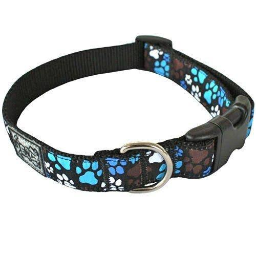 "RC Pet Products Adjustable Dog Clip Collar - Medium, Pitter Patter Chocolate, 1"" X 12"" to 20"""