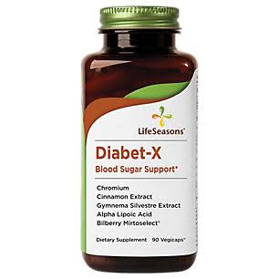 Life Seasons Diabet-x Blood Sugar Support Dietary Supplement - 90 Vegicaps
