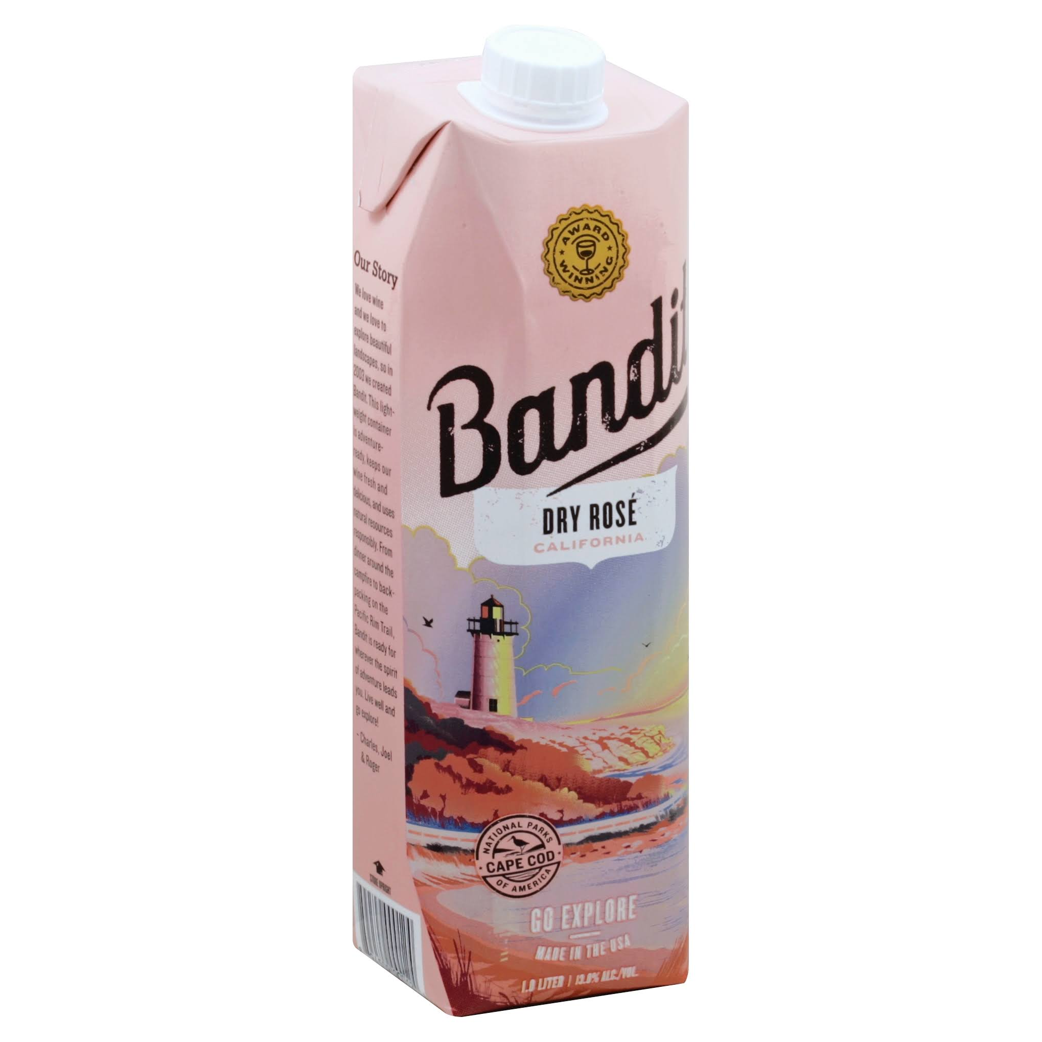 Bandit Rose Wine, Dry, California - 1 liter